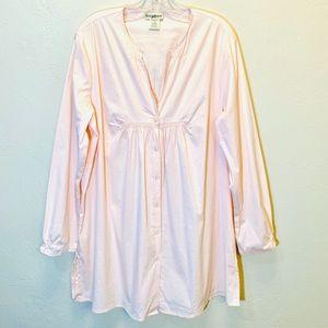 Vintage Plus Size Top Babydoll Tunic Pastel Blouse